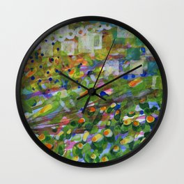 A Look over the Hedge Wall Clock
