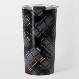 Abstract Geometric Metal City Pattern Wide Banner Travel Mug
