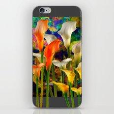 Orange Ivory & Golden Color Calla Lilies Golden Art iPhone & iPod Skin
