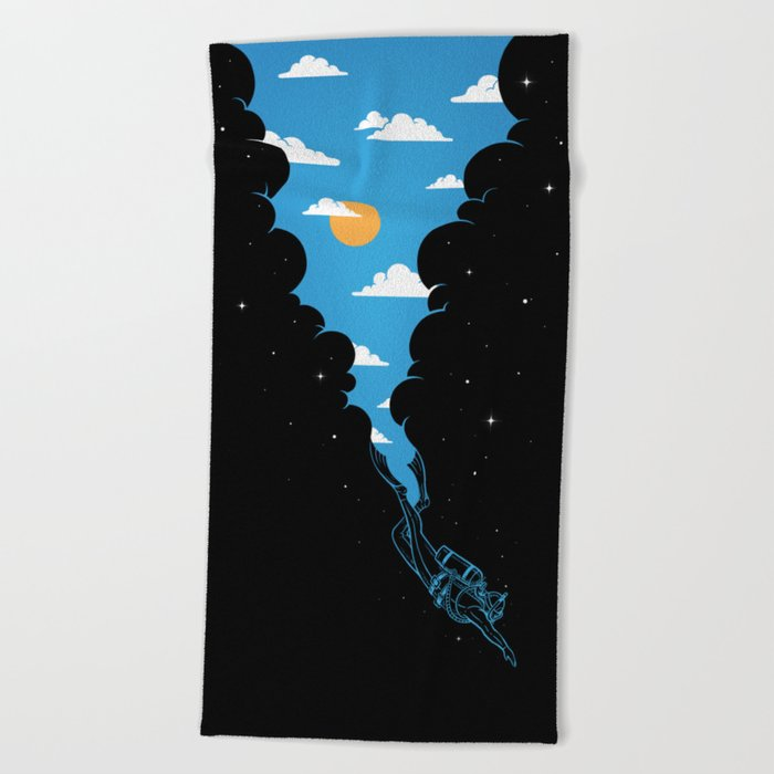 Skydiver Beach Towel