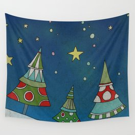A Small Winter Forest Wall Tapestry