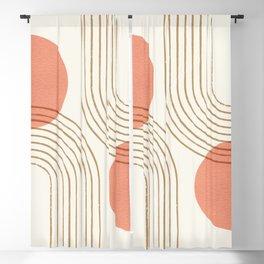 Sun Arch Double - Coral Blackout Curtain