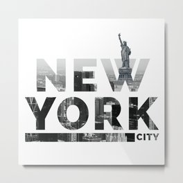 NEW YORK CIY Metal Print
