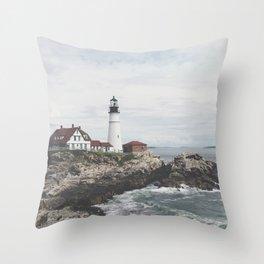 Portland Lighthouse 2 Throw Pillow