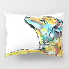 Gentle Wolf - animal painting sketch Pillow Sham