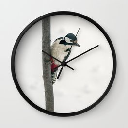 Knock, knock. Who's There? Woodpecker! Wall Clock