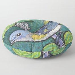 American Redstart Female Floor Pillow
