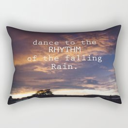 Dance in the Rain Rectangular Pillow