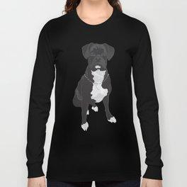 The Black & White Boxer Long Sleeve T-shirt