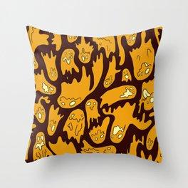 Orange Ghosties Throw Pillow