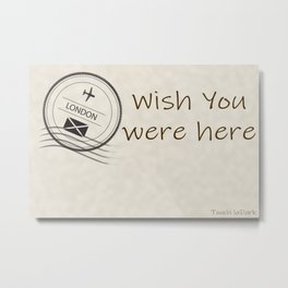 I love the traditional means of communication.  The handwritten message when travel was not as easy. Metal Print