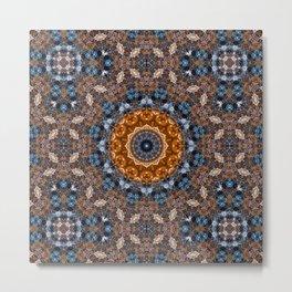 Bright Marble  Kaleidoscope  Mandala Metal Print