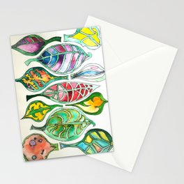 Abstract Leaf Colors Stationery Cards