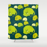 mother of dragons Shower Curtains featuring dragons by lisenok