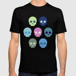 Colorful Skull Cute Pattern T-shirt