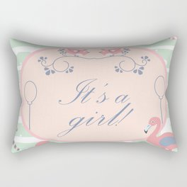 Baby Girl Rectangular Pillow