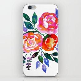 Pink Orange Roses iPhone Skin