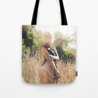 rebel Tote Bags featuring Rebel by Josefina