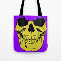 skeletor Tote Bags featuring Skeletor by Dukesman