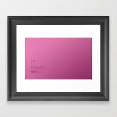 art + industry = design Framed Art Print