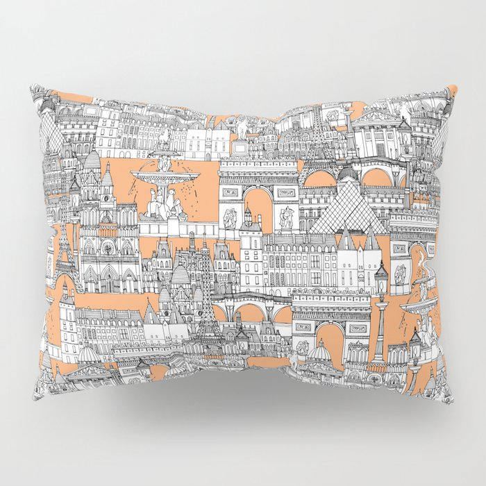 Paris toile cantaloupe Pillow Sham