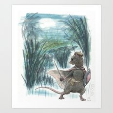 Weasel Falls Art Print