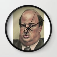kevin russ Wall Clocks featuring Kevin by Ben Anderson