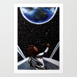 Red Flag cover painting Art Print