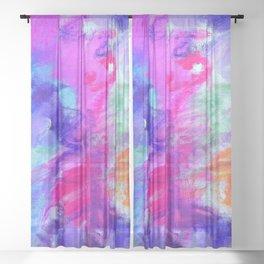 Blue Abundance Sheer Curtain