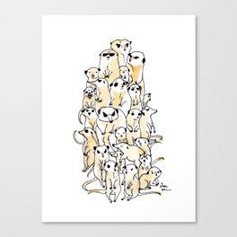 Wild Family Series - Meerkat Canvas Print