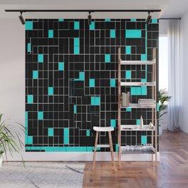 Bubblegum blue cubes Wall Mural