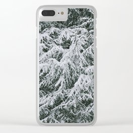Snowy Boughs Clear iPhone Case