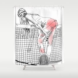 Jeu set et smack Shower Curtain
