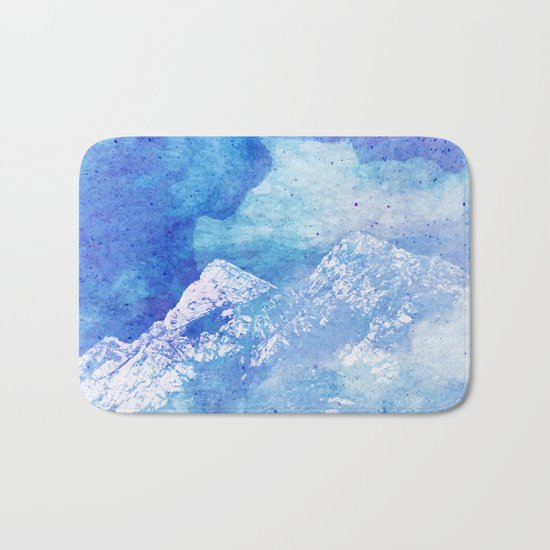 Snowy Mountain #society6 #decor #buyart Bath Mat