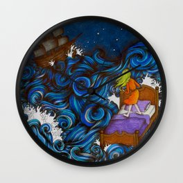Dreaming By the Sea Wall Clock