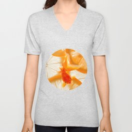 Orange Fish Unisex V-Neck