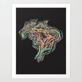 BRAZIL COLORS Art Print