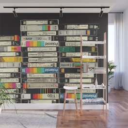 VHS Stack Wall Mural
