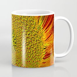 The flower of sun   (This Artwork is a collaboration with the talented artist Agostino Lo coco) Coffee Mug