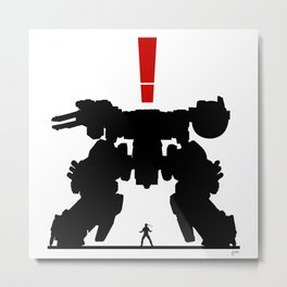 Metal Gear Rex Metal Print