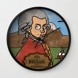 Wolfgang from Earth (Clavicembalo) Wall Clock