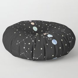 For You - Solar System Illustration Floor Pillow