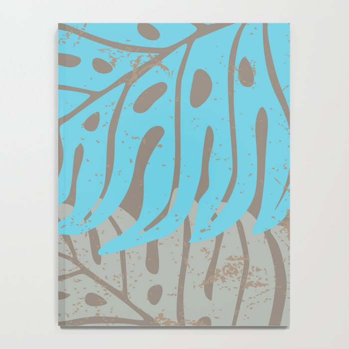Hawaiian leaves pattern N0 2, Art Print collection, illustration original pop art graphic print Notebook