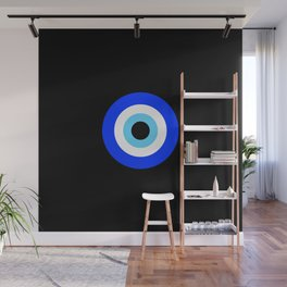 Evil Eye Black Wall Mural