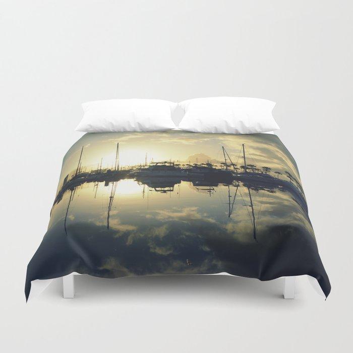 marina morning Duvet Cover