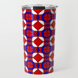 Red White and Blue Travel Mug