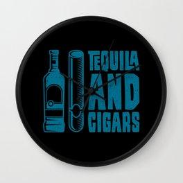 CIGAR AND TEQUILA Cigar Aficionado Gift Cigar Smoker Wall Clock