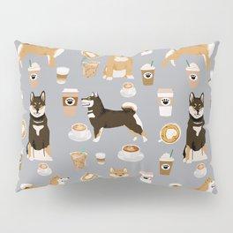 Shiba Inu coffee dog breed pet friendly pet portrait coffees pattern dogs Pillow Sham