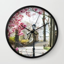 Spring in Central Park Wall Clock