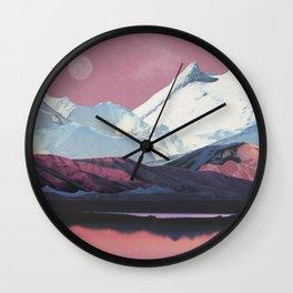 Bruised Landscape Wall Clock